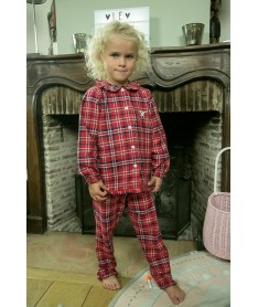 Pyjama long pilou écossais...