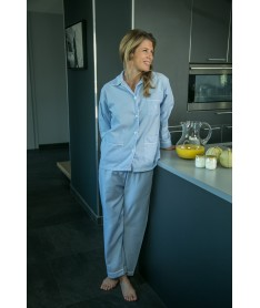Pyjama long femme flanelle...