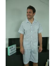 Pyjama court homme popeline...