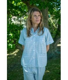Pyjama court femme popeline...