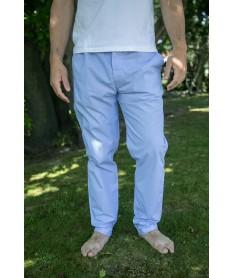 Pantalon popeline ciel