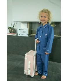Pyjama long fille lin et...
