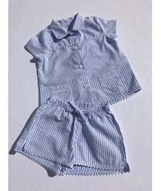 Pyjama court fille popeline...