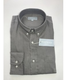 Chemise lin homme  taupe