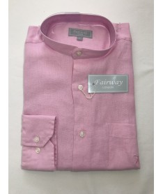Chemise lin homme rose clair