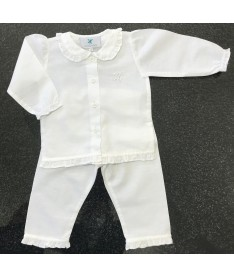 Pyjamas long fille blanc