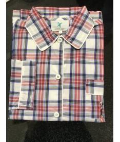 Pyjama homme popeline écossais