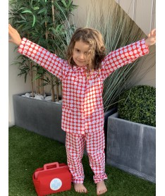 Pyjama long fille  Pois...