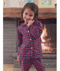 Pyjama long écossais rouge...