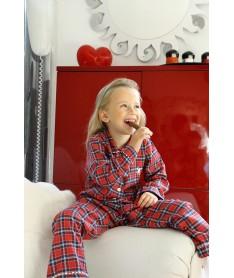 Pyjamas Long Fille Ecossais...