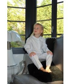 Pyjama Long Fille Blanc...