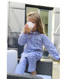 Pyjama Long Fille Fleurs...