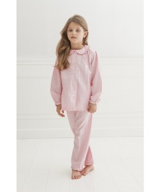 Pyjama long flanelle rose...