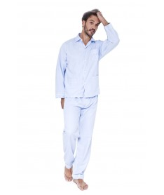 Pyjama long  flanelle ciel