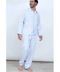 Pyjama long chevrons ciel